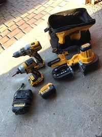 Dewalt XR cordless drill / impact and bandsaw. What you see is what you get. Almost brand new. Mississauga, L5M