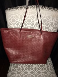 Kate Spade deep red leather tote  Vaughan, L4H 0X3