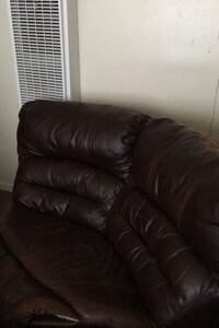 Couch that is a sectional and reclines.