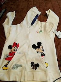 white and black Mickey Mouse zip-up hoodie Anaheim, 92805