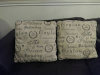 Large French script couch cushions/pillows Calgary, T2Z