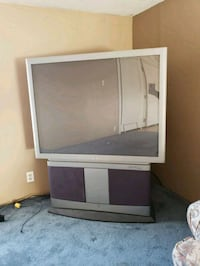 ASAP gray and black rear-projection TV 440 mi