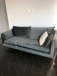 gray suede 2-seat sofa Englewood, 80111