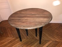 Table ronde en bois massif Paris, 75004