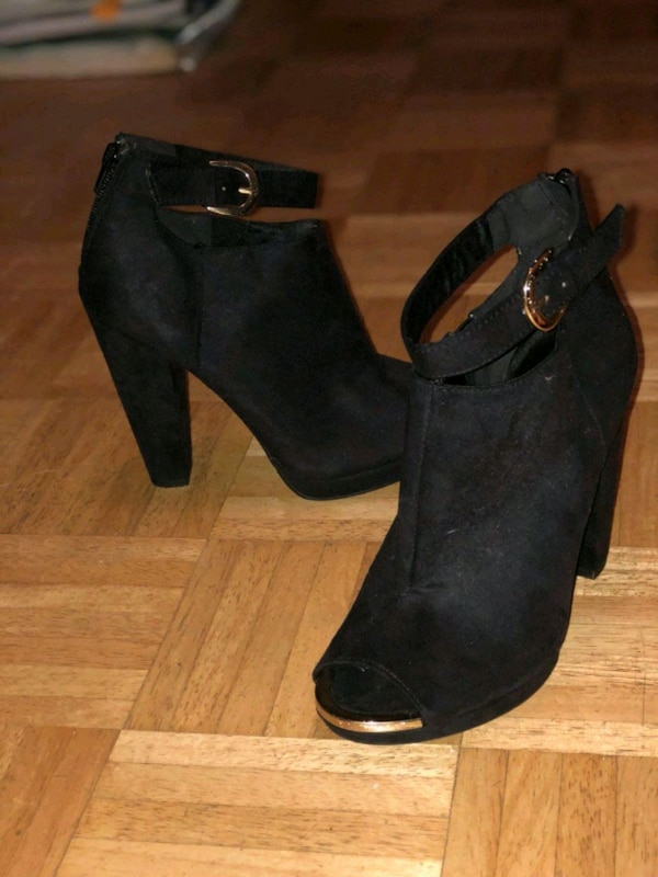 f821de780 Used pair of black suede platform stiletto shoes for sale in Staten Island  - letgo