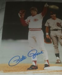 Pete Rose autographed 8 by 10 authentic Alpharetta