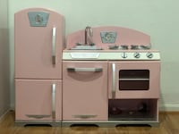 KidKraft pink wooden kitchen with w Burke, 22015
