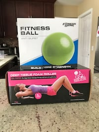 Dumbells, fitness ball, abdominal roller and pull-up bar