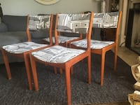 Delivery - set of 4 MCM teak dining chairs  Toronto, M9B 3C6
