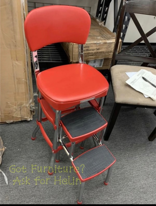 Awesome New Cosco Red Retro Counter Chair Step Stool Summer 2019 Big Sale Ncnpc Chair Design For Home Ncnpcorg