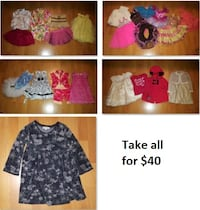 3T Girls Clothing Lot 3 (Take 28 Pieces for $40) Mississauga