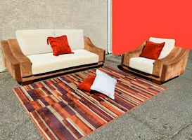 Gorgeous Real Wood Sofa Set, ° Delivery Available ASAP °