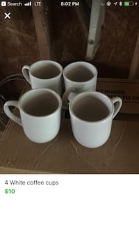 white ceramic mugs and saucers screenshot Campbellton, 32440