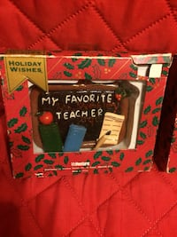 Holiday wishes ceramic figurine package $8.00 each