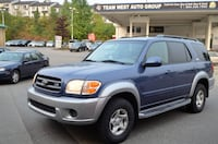 Team West Auto Group 2001 Toyota Sequoia SR5 4WD Local One owner dealer serviced low km  Vancouver