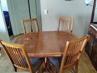 rectangular brown wooden table with four chairs dining set Tucson, 85730