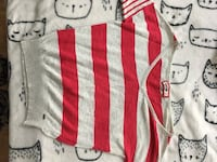 white and red striped v-neck sweatshirt Montréal, H3W 1C5