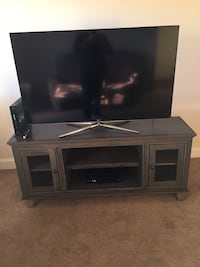 "Gray wooden tv console 58"" Samsung TV included Grovetown, 30813"