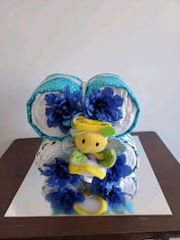 Diaper Cake Butterfly for baby boy, made and ready to sell!