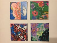 """Acrylic Paintings by Tanya Petrova 4""""x4"""" - $10 Each Mary Esther, 32569"""