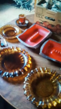 Antique glass candle holders ash trays , lots more Cartersville, 30120