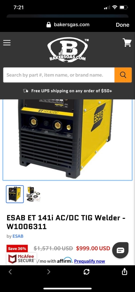 Photo ESAB 141i AC/DC Welding Machine