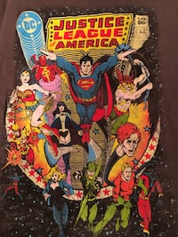 Justice League M t-shirt in collector tin Palos Hills, 60465