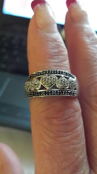Black And White Diamond Band Sterling Silver  Township of Taylorsville, 28681