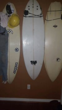 white and black and black surfboard Williamsburg, 23185