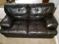 black leather 3-seat sofa Manassas, 20112