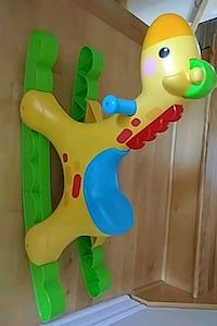 baby's yellow and green activity walker Prévost, J0R