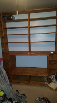 Large Entertainment center/shelving unit