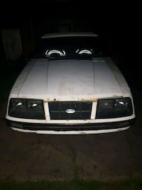 Front clip off 1983 mustang