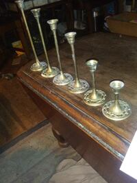 6 brass candle holder s Wilmington