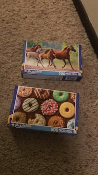 horse and donut 500 pieces puzzle boxes Omaha, 68154
