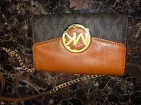 Brown michael kors leather wallet