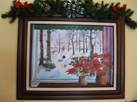 Original Winter scene painting signed by local artist Eugene Noe  Fond du Lac
