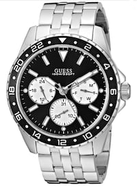 GUESS BLACK AND SILVER-TONE CHRONOGRAPH WATCH MEN Calgary, T3N 0S2