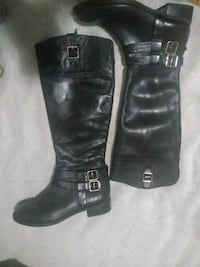 pair of black leather 2-buckle riding boots Minneapolis, 55404
