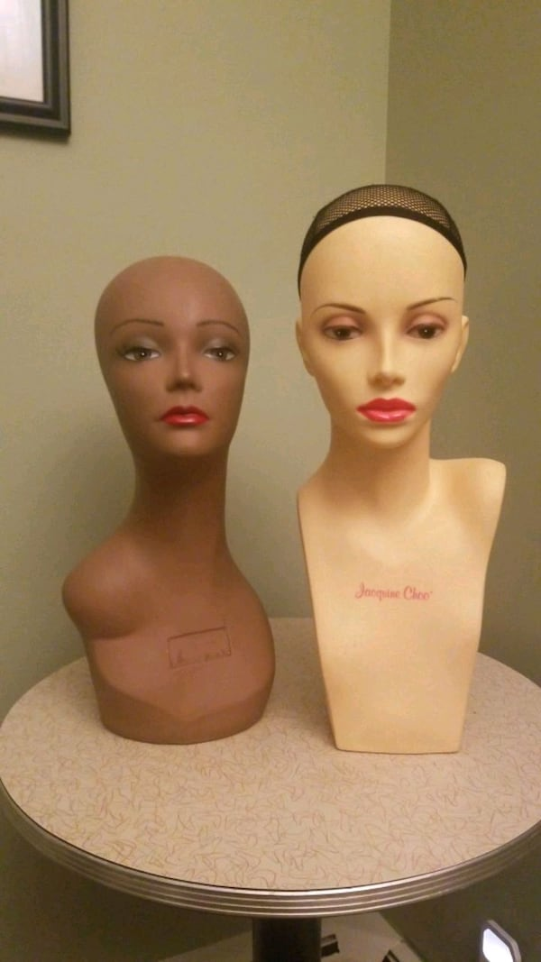 Myannequin Bust Wig Forms...great for hats amd necklaces as well wigs eb5e3838-62da-47ba-8afe-d4c044c94e84
