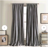 BRAND NEW DKNY Velvet Curtains