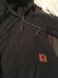 Men's xl but fits like a Med.  grey waffle patterned hoodie