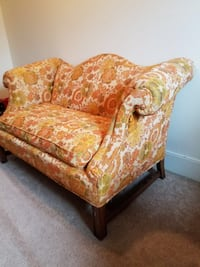 Brown and white floral fabric sofa chair Dunmore, 18512