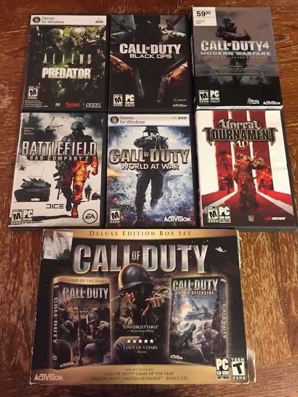 Call Of Duty and other PC Games in EUC all complete