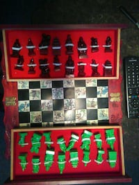 red and green chess piece set New Orleans, 70114