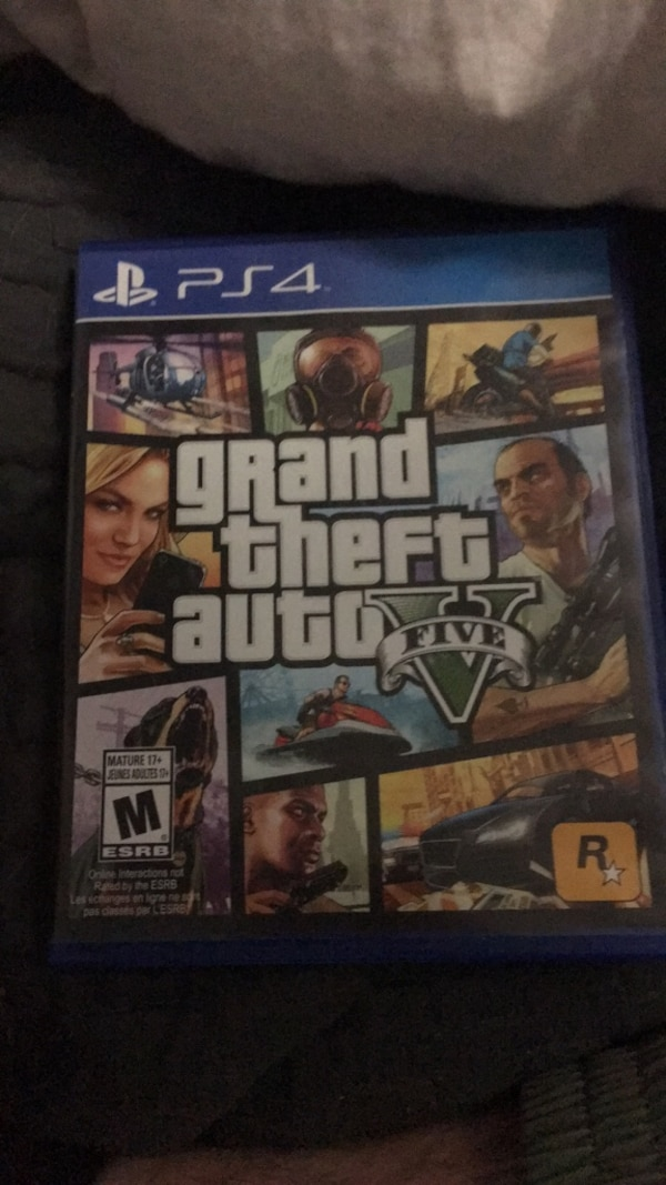 Ps4 grand theft auto 5 game case