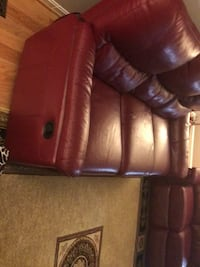 Brown leather 5-seat sofa Fairfax Station, 22039