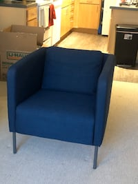 Modern Blue Accent Chair