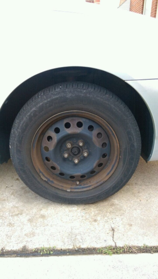 """Used tires on rim 15"""" off Corolla"""