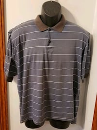 Nike Vintage Blue With striped Polo Shirt Mens Medium Middletown, 21769